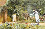 Edward Killingworth Johnson Catching the Pony painting