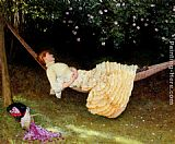 Edward Killingworth Johnson The Hammock painting