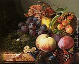 Edward Ladell Still Life with Birds Nest and Fruit painting