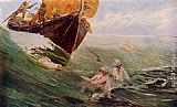 Edward Matthew Hale The Mermaid's Rock painting