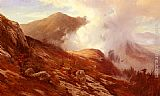 Edward Moran Half-Way Up Mt. Washington painting