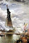 Edward Moran Unveiling the Statue of Liberty painting