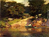 Edward Potthast Boating in Central Park painting
