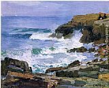 Edward Potthast Looking out to Sea painting