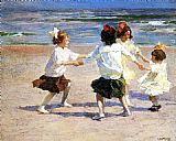 Edward Potthast Ring around the Rosy painting