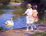 Edward Potthast The Swan painting