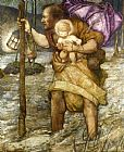 Edward Reginald Frampton Saint Christopher painting