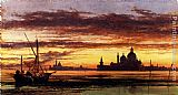 Edward William Cooke 'Sunset Sky, Salute And San Giorgio Maggiore' painting