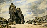 Edward William Cooke Steeple Rock Kynance painting
