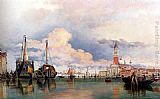 Edward William Cooke The Church Of The Gesuati And Riva Delle Zattere, With San Giorgio Maggiore Looking East painting