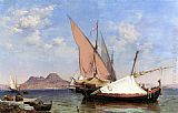 Edward William Cooke Vesuvius, Catalan and Paranzella painting