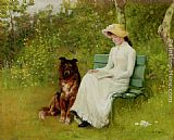 Edwin Harris A Quiet Read painting