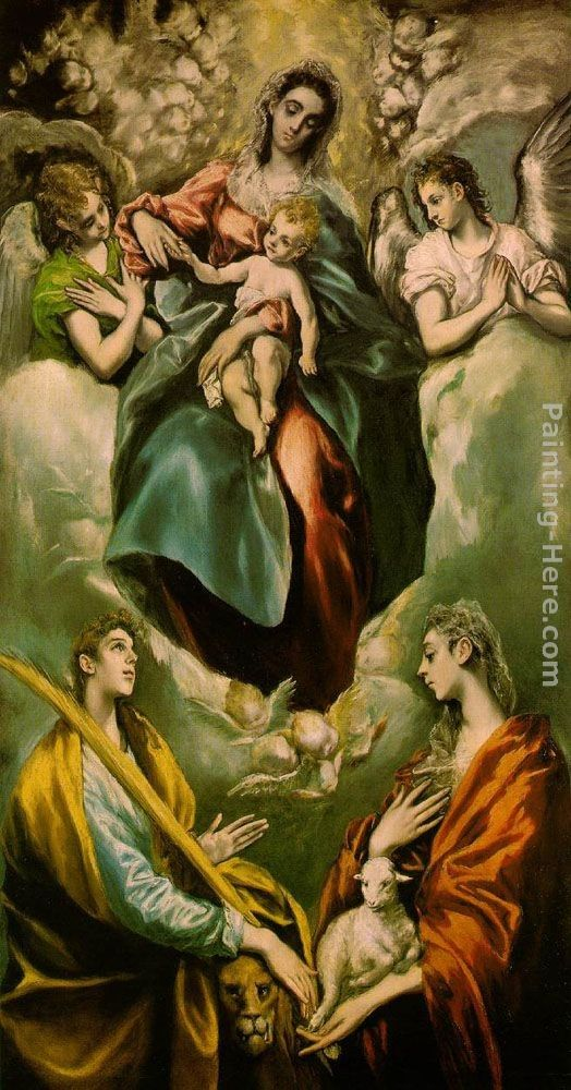 El Greco Virgin and Child with St. Martina and St. Agnes