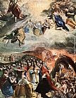 El Greco Adoration of the Name of Jesus (Dream of Philip II) painting