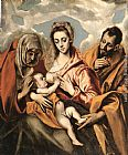 El Greco Holy Family painting