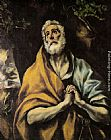 El Greco The Repentant Peter painting