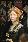 Eleanor Fortescue-Brickdale Head of a Tudor Girl painting