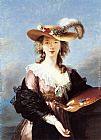 Elisabeth Louise Vigee-Le Brun Self Portrait in a Straw Hat painting