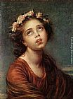 Elisabeth Louise Vigee-Le Brun The Daughter's Portrait painting