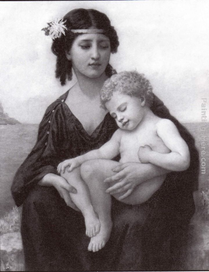 Elizabeth Jane Gardner Bouguereau By the Seashore