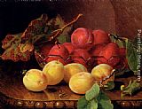 Eloise Harriet Stannard Plums On A Table In A Glass Bowl painting