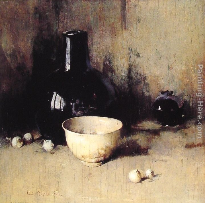 Emil Carlsen Still Life with Self Portrait Reflection
