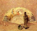 Emil Carlsen The French Fan painting