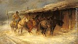 Emil Rau Wallachian Horsemen in the Snow painting