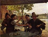 Emile Friant Discussion Politique painting