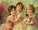 Emile Vernon Best of Friends painting