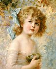 Emile Vernon Girl Holding a Nest painting