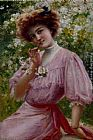 Emile Vernon Pretty In Pink painting
