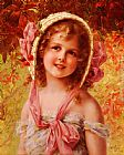 Emile Vernon The Cherry Bonnet painting