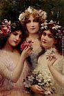 Emile Vernon The Three Graces painting