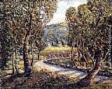 Ernest Lawson A Turn Of The Road (Tennessee) painting