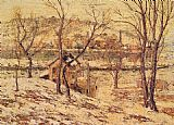 Ernest Lawson Winter on the Harlem River painting