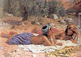 Etienne Dinet Bathers Resting painting