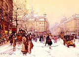 Eugene Galien-Laloue La Place Saint-Michel painting