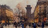 Eugene Galien-Laloue Les Grands Boulevards A Paris painting