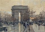 Eugene Galien-Laloue The Arc de Triomphe, Paris painting