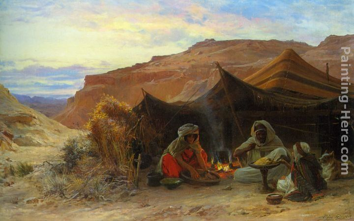 Eugene alexis girardet paintings eugene alexis girardet bedouins in