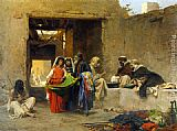 Eugene-Alexis Girardet At The Souk painting