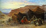 Eugene-Alexis Girardet Bedouins in the Desert painting