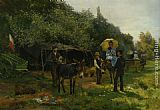 Eugene-Alexis Girardet Excursion d'ete painting