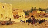 Eugene-Alexis Girardet Leaving the Market painting
