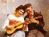 Eugenio Zampighi A Private Concert painting