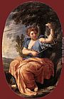Eustache Le Sueur The Muse Terpsichore painting