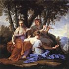 Eustache Le Sueur The Muses Clio, Euterpe and Thalia painting
