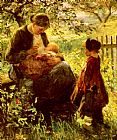 Evert Pieters In The Orchard painting