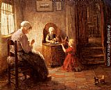 Evert Pieters Mother and Children painting